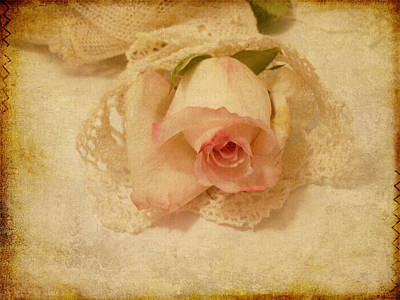 Art Print featuring the photograph Rose With Vintage Feel by Sandra Foster