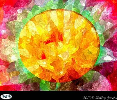 Digital Art - Rose Yellow Infidelity Jealously by Holley Jacobs