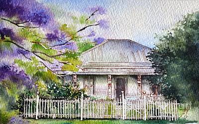 Painting - Roseabellas House Bellingen by Sandra Phryce-Jones