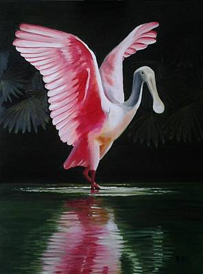 Painting - Roseate Spoonbill II by Maria Mills