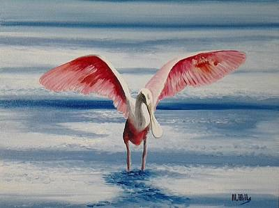 Painting - Roseate Spoonbill IIi by Maria Mills