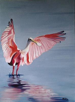 Painting - Roseate Spoonbill by Maria Mills
