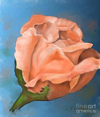 Painting - Rosebud Peaches And Cream by Judy Filarecki
