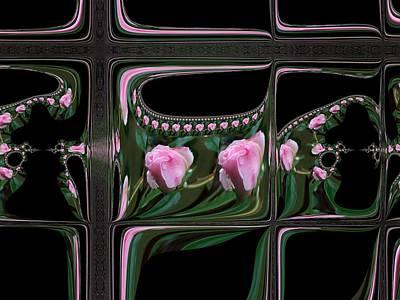 New Zealand Mixed Media - Rosebud Windows by Nancy Pauling