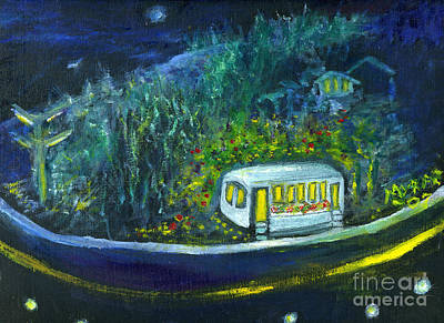 Painting - Rosebud's Diner by Myra Maslowsky