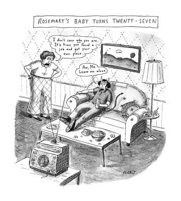 Ma. Drawing - Rosemary's Baby Turns Twenty-seven by Roz Chast