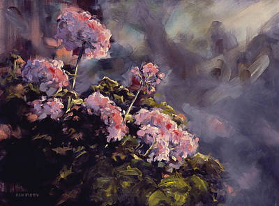 Painting - Rosemary's Geranium by Ken Fiery