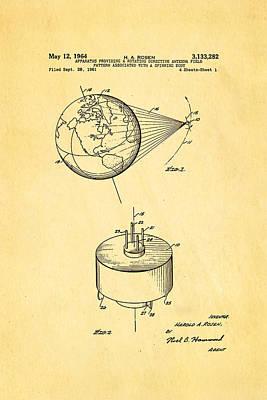 Rosen Communications Satellite Patent Art 1964 Print by Ian Monk