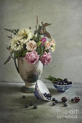 Roses And Berries Art Print