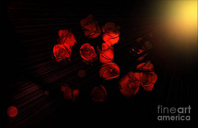 Photograph - Roses And Black by Oksana Semenchenko