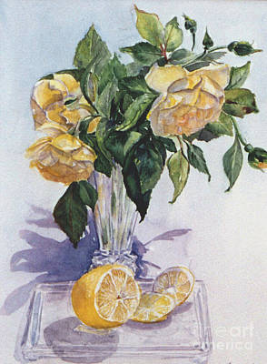 Painting - Roses And Lemon by Carole  DiTerlizzi