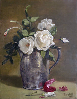 Painting - Roses And Onion Skins by Kathryn Donatelli