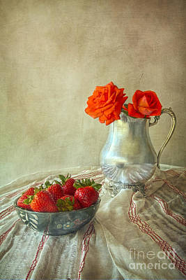 Photograph - Roses And Strawberries by Elena Nosyreva