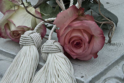 Art Print featuring the photograph Roses And Tassels by Sandra Foster