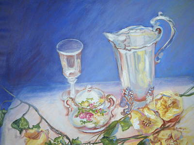 Roses And Tea Original by Patricia Kimsey Bollinger