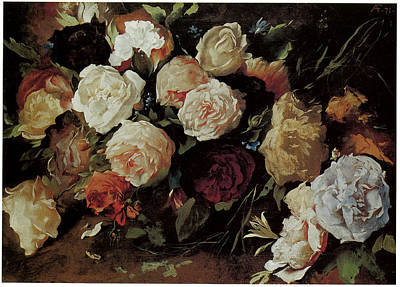 roses painting by anselm feuerbach. Black Bedroom Furniture Sets. Home Design Ideas