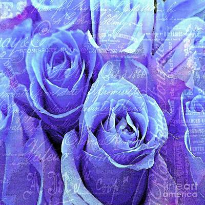 Painting - Roses Are Purple And Lilac And Blue by Saundra Myles