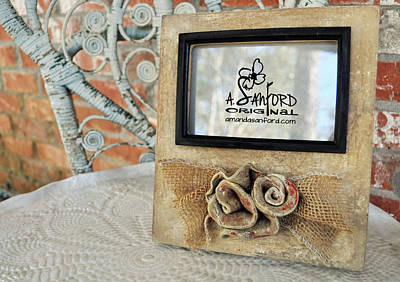 Handbuilt Sculpture - Roses Are Red by Amanda  Sanford