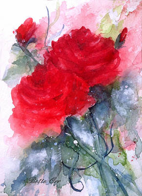 Painting - Roses Are Red by Bette Orr