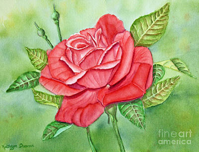 Garden Painting - Roses Are Red by Kathryn Duncan