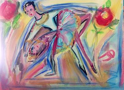 Dance Ballet Roses Painting - Roses Are Red My Love by Judith Desrosiers