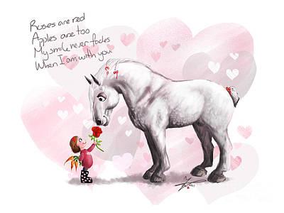 Roses Are Red Art Print by Paulina Zaborska