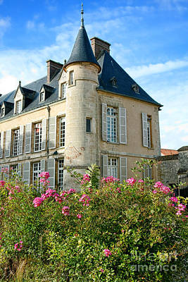 Roses At The Castle Art Print by Olivier Le Queinec