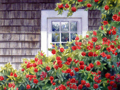 Painting - Roses At The Window by Janet  Zeh