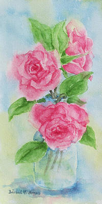 Painting - Roses by Barbel Amos