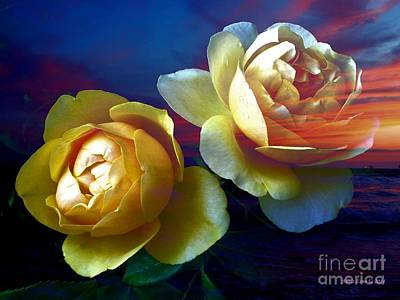 Photograph - Roses By The Sea by AZ Creative Visions