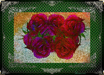 Roses- Featured In Beautiful Roses And Comfortable Art Groups Art Print by EricaMaxine  Price