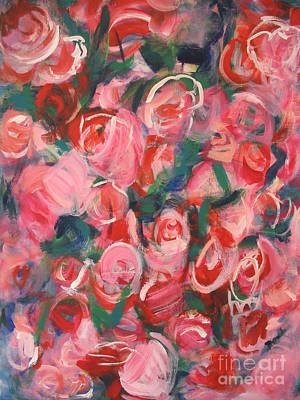 Painting - Roses by Fereshteh Stoecklein