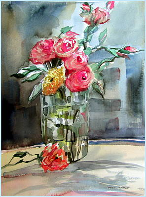 Decorating Mixed Media - Roses For Manet by Mindy Newman