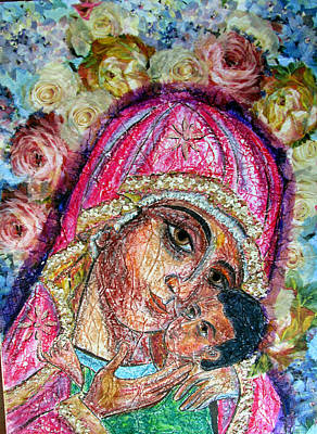 Mixed Media - Roses For Mary by Sarah Hornsby