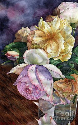 Painting - Roses For Mom by Marisa Gabetta