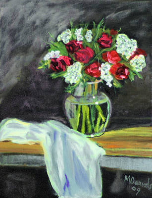 Art Print featuring the painting Roses For Mother's Day by Michael Daniels