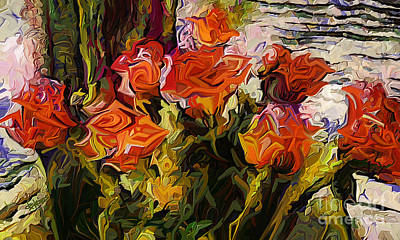 Painting - Roses For Vincent by Dorinda K Skains
