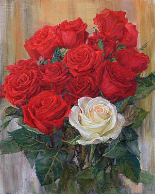 Painting - Roses For You by Galina Gladkaya