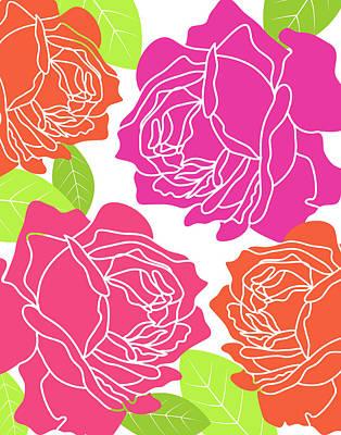 Hot Wall Art - Painting - Roses I by Tamara Robinson
