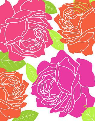 Hot Wall Art - Painting - Roses II by Tamara Robinson