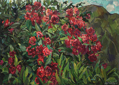 Painting - Roses In The Mountains by Juliya Zhukova