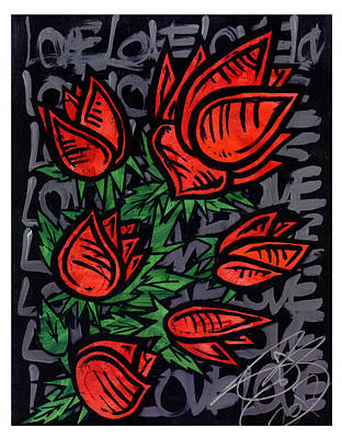 Web Of Life Painting - Roses  by Josh Brown