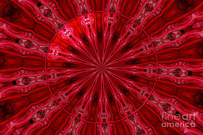 Photograph - Roses Kaleidoscope Under Glass 26 by Rose Santuci-Sofranko