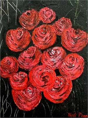Painting - Roses by Kat Poon