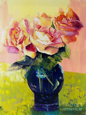 Painting - Roses by Marlene Book