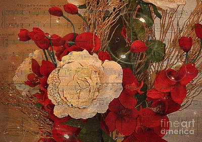 Photograph - Roses Music Bubbles And Love by Kathy Baccari