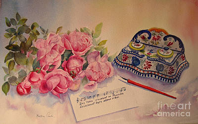 Roses Of Picardy Art Print by Beatrice Cloake
