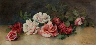 Rose Painting - Roses On A Ledge by MotionAge Designs
