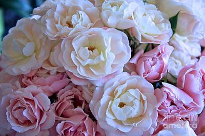 Roses On The Veranda Art Print by Carol Groenen