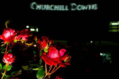 Roses Outside Churchill Downs  Art Print